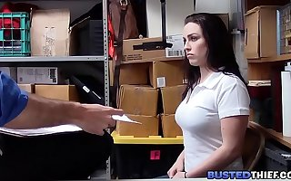 Curvy Teen Snowy Stealing Fucked By Officer