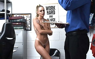 ShopLyfter - Blonde Thief Detained And Fucked By Mall Cop